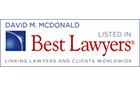 Best Lawyers David M. McDonald